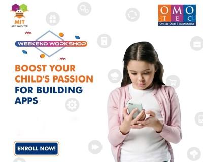 MIT App Inventor weekend workshop for kids by OMOTEC