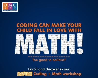 Scratch Coding with Maths weekend workshop for kids by OMOTEC