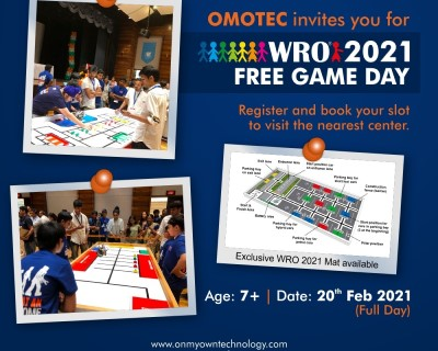 WRO 2021 Free Game Day full day at OMOTEC